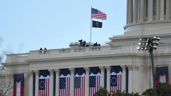 Здание Капитолия в Вашингтоне перед началом инаугурации избранного президента США Джл Байдена