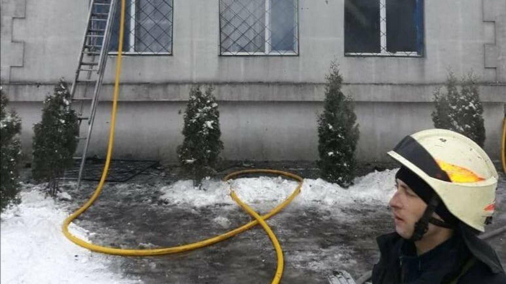 Пожар в доме престарелых в Харькове - РИА Новости, 1920, 21.01.2021