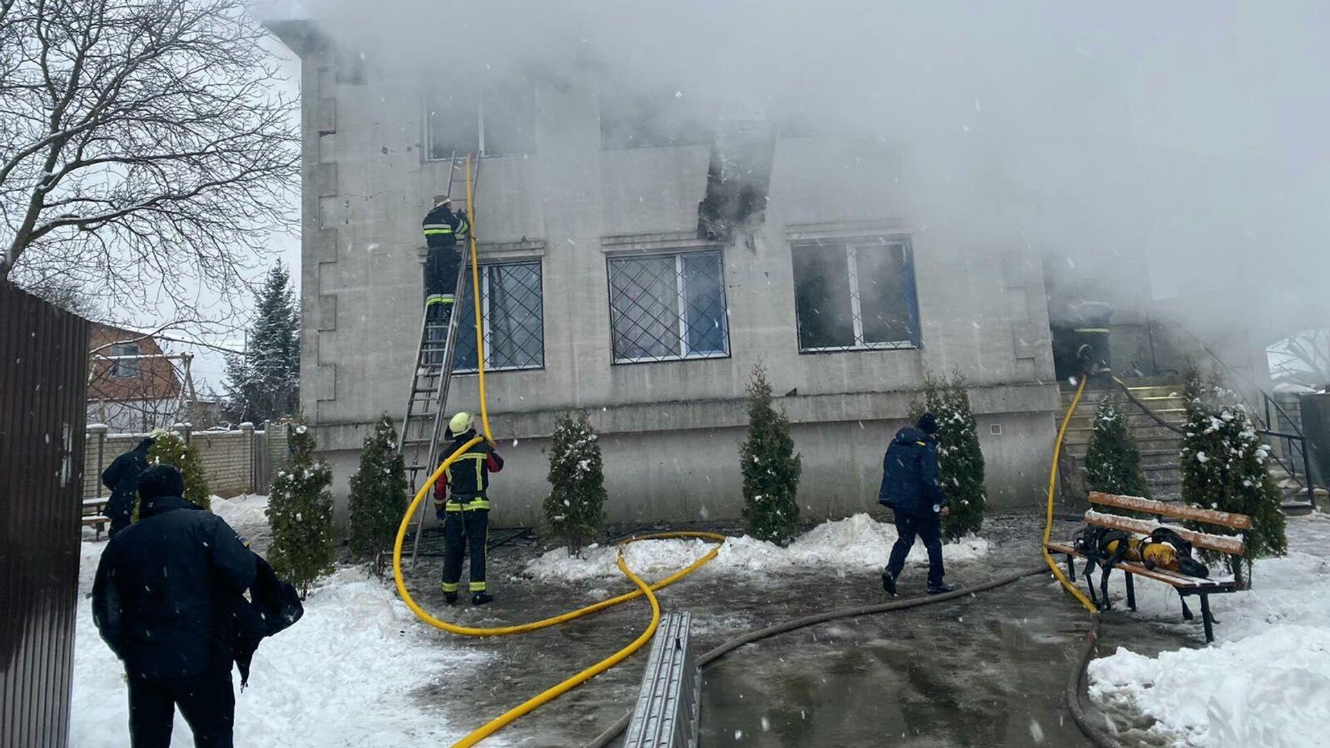 Пожар в доме престарелых в Харькове - РИА Новости, 1920, 22.01.2021