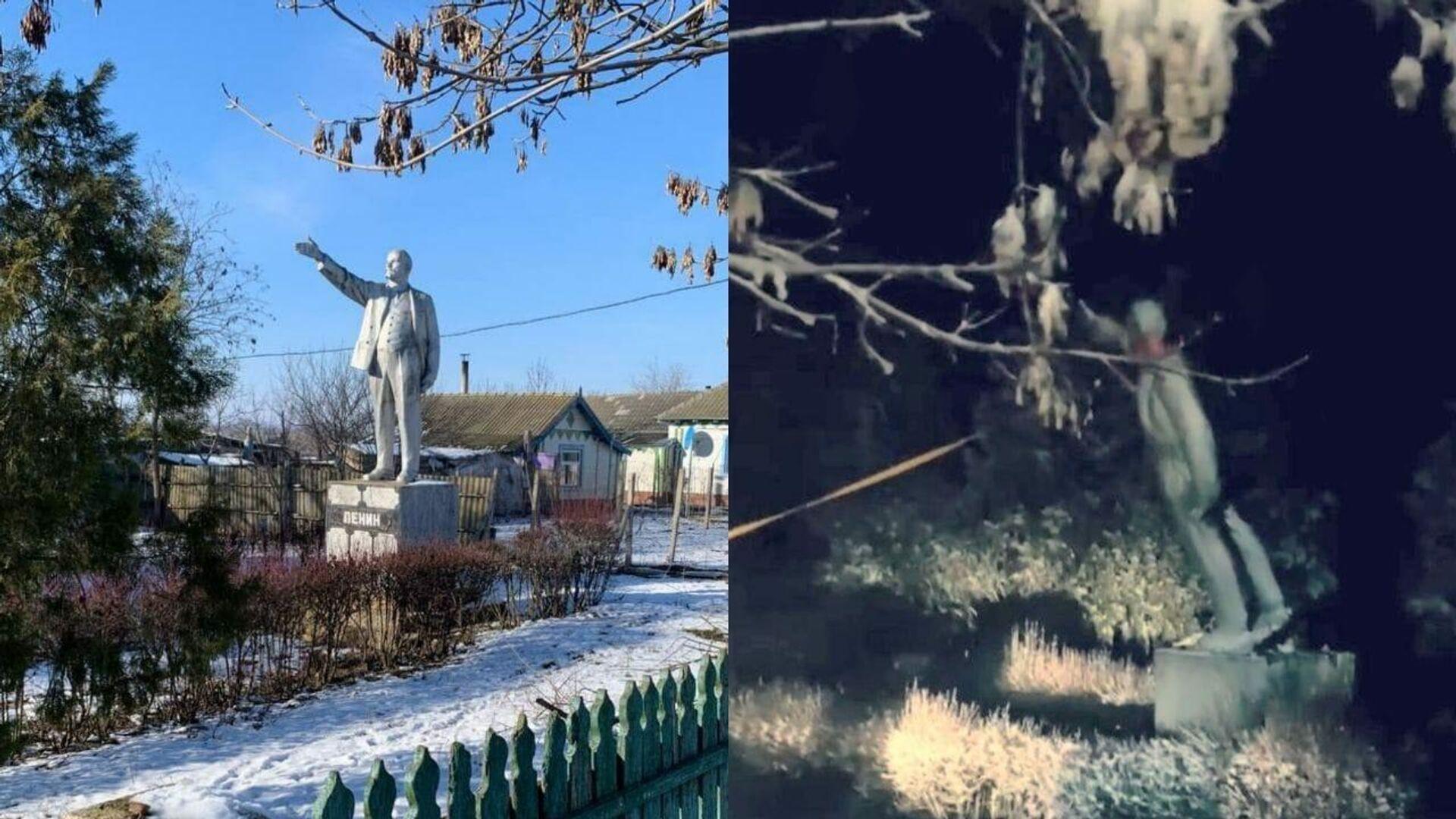 Памятник Ленину в Одесской области до и после сноса - РИА Новости, 1920, 27.01.2021