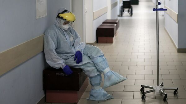 Отделение для больных коронавирусом в роддоме Симферополя