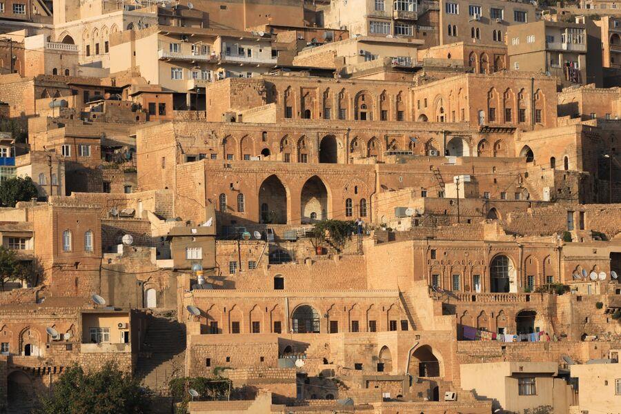 Вид на старый город в Мардине
