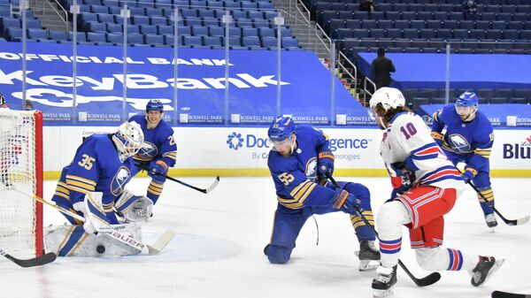 Игровой момент матча НХЛ  Нью-Йорк Рейнджерс - Баффало