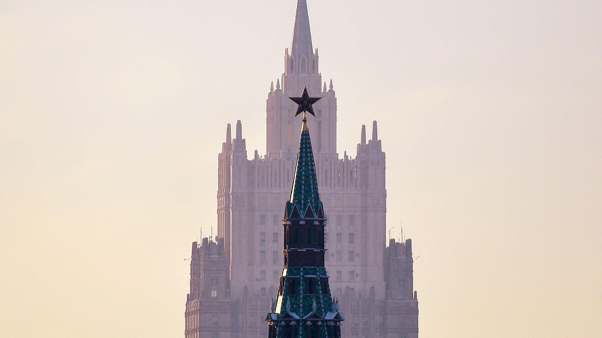 Вид на здание МИД в Москве - РИА Новости, 1920, 02.03.2021