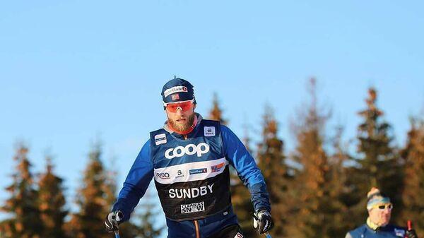 Двукратный олимпийский чемпион 2018 года лыжник Мартин Йонсруд Сундбю