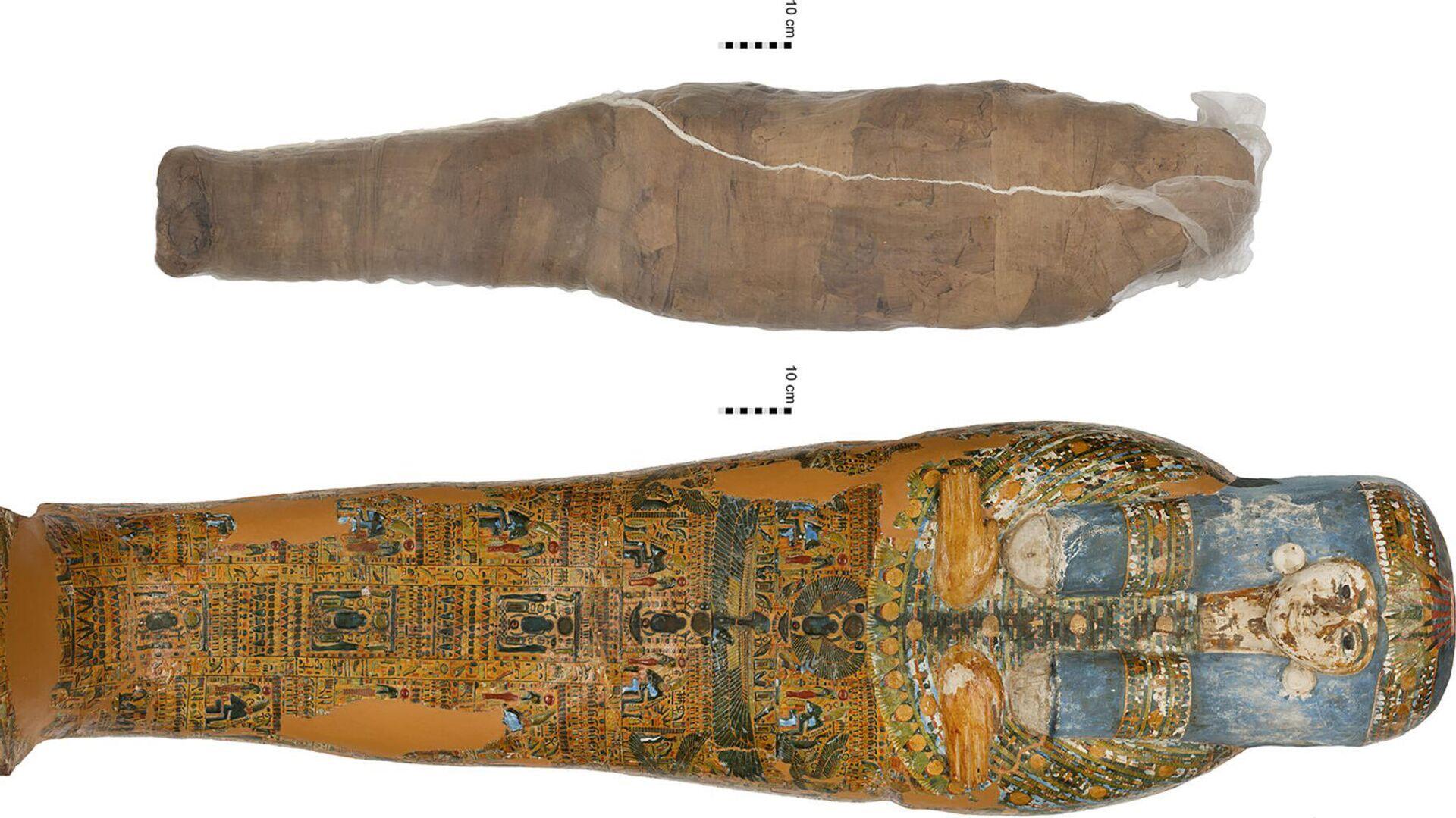 Впервые обнаружена древнеегипетская мумия в глиняной оболочке