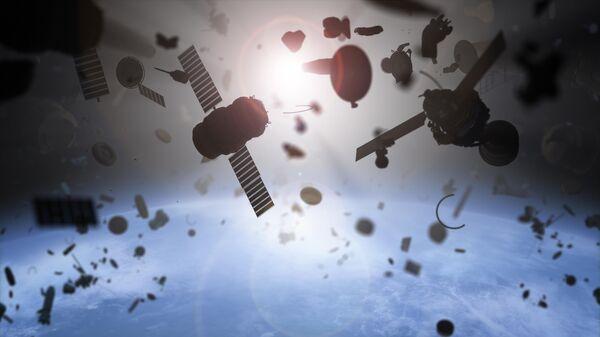 Космический мусор на околоземной орбите