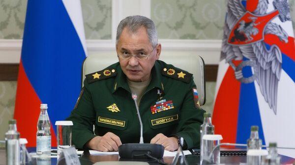 Министр обороны РФ Сергей Шойгу проводит совещание с руководителями ряда крупнейших корпораций оборонно-промышленного комплекса страны