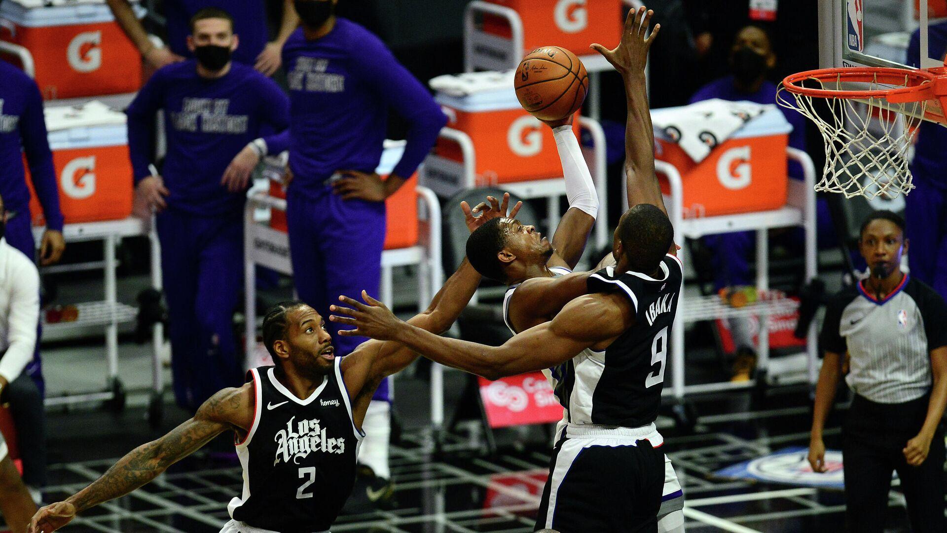 Игровой момент матча НБА Сакраменто - Лос-Анджелес Клипперс - РИА Новости, 1920, 07.04.2021