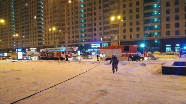 Пожар в офисном здании на улице Белинского в Екатеринбурге