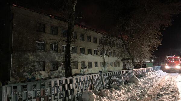 Пожар в МОУ СОШ №2 в райцентре Екатериновка