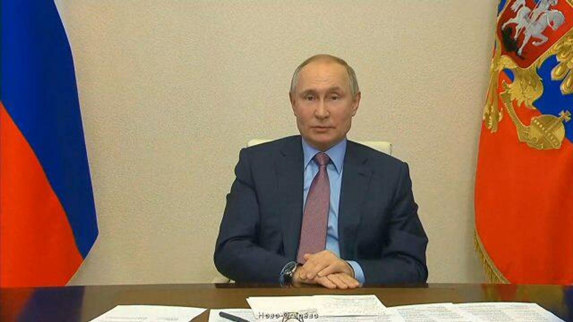 Фигуранта этого используют именно сейчас – Путин о Навальном и незаконных акциях - РИА Новости, 1920, 14.02.2021
