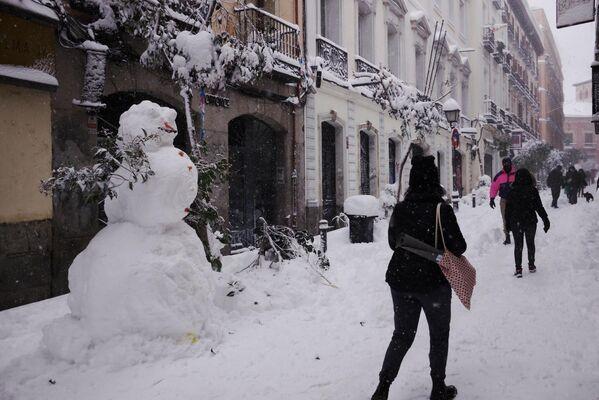 Снег в Мадриде