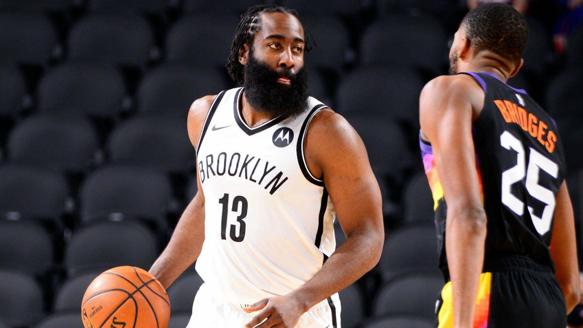 Баскетболист Бруклин Нетс Джеймс Харден - РИА Новости, 1920, 21.04.2021