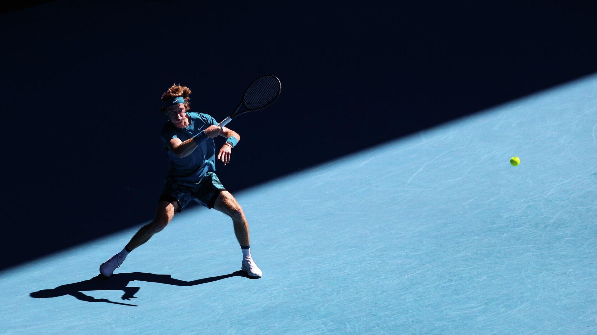 Андрей Рублёв в четвертьфинальном матче Открытого чемпионата Австралии 2021 (Australian Open 2021) - РИА Новости, 1920, 06.03.2021