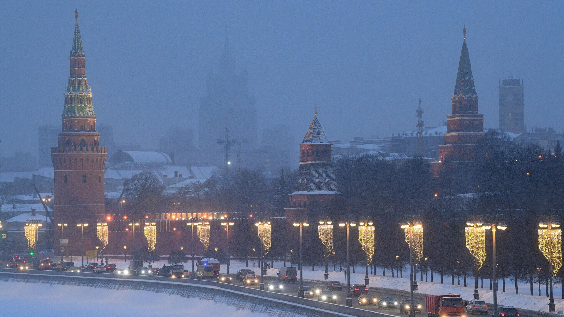 Снегопад в Москве - РИА Новости, 1920, 23.02.2021