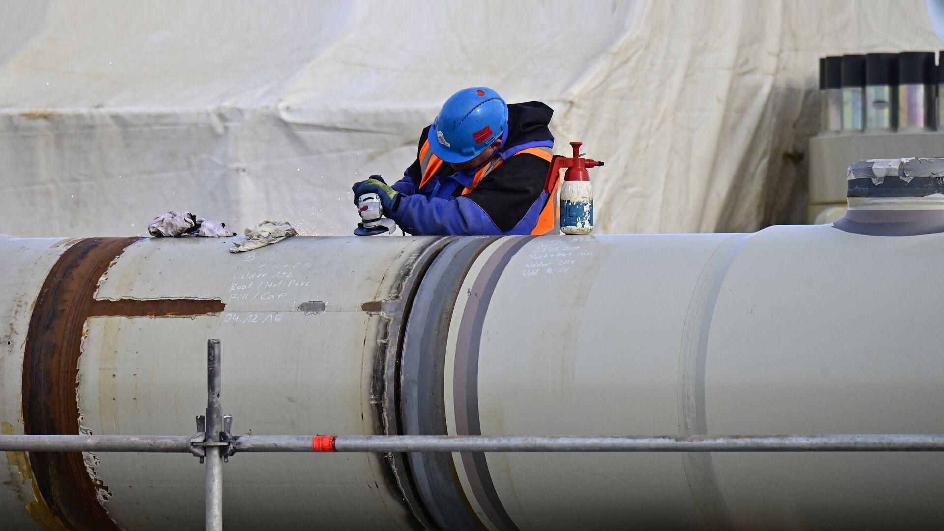 Строительство газопровода Северный поток-2 в Германии - РИА Новости, 1920, 22.02.2021