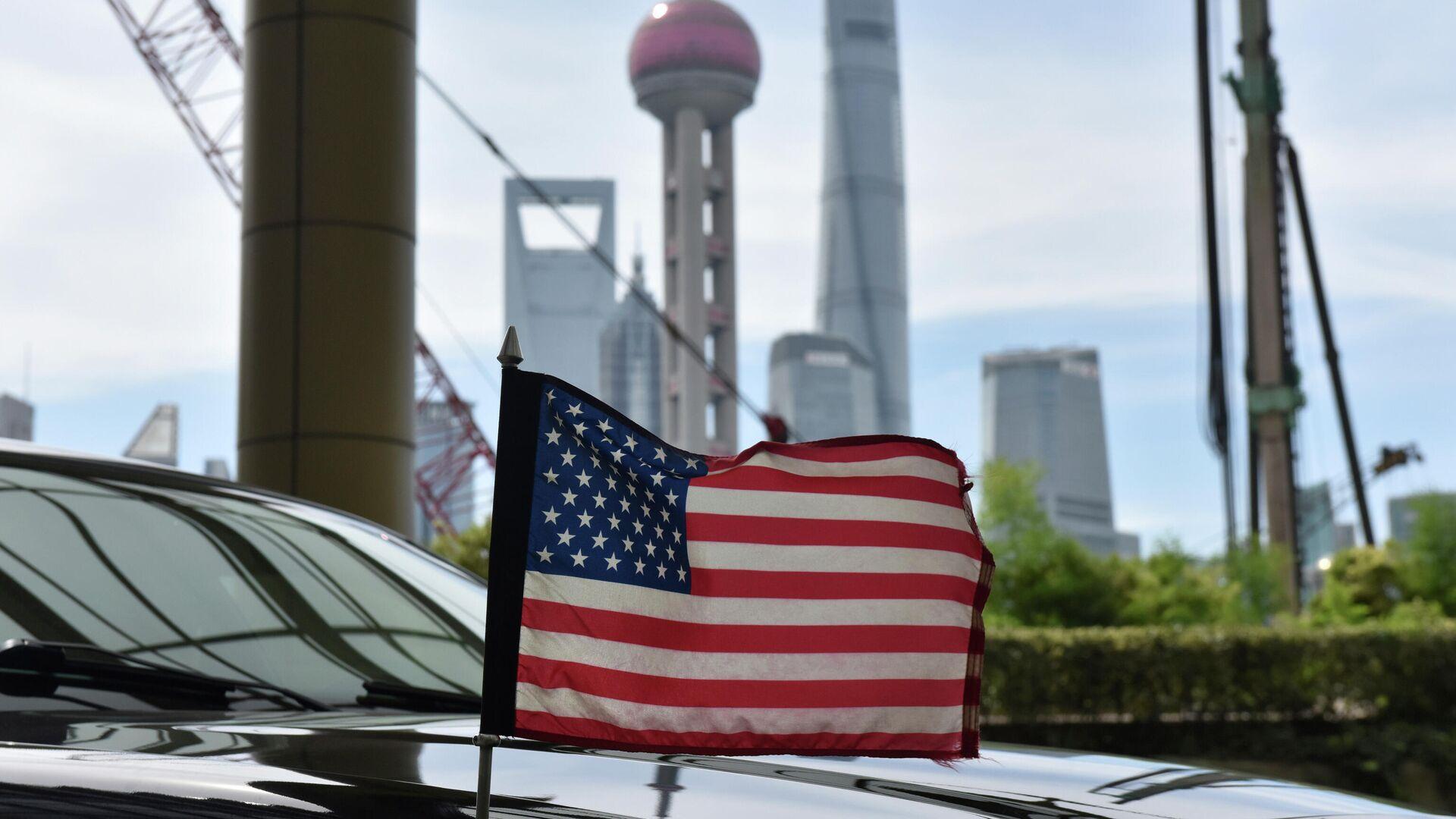 Флаг на автомобиле консульства США в Шанхае - РИА Новости, 1920, 09.04.2021
