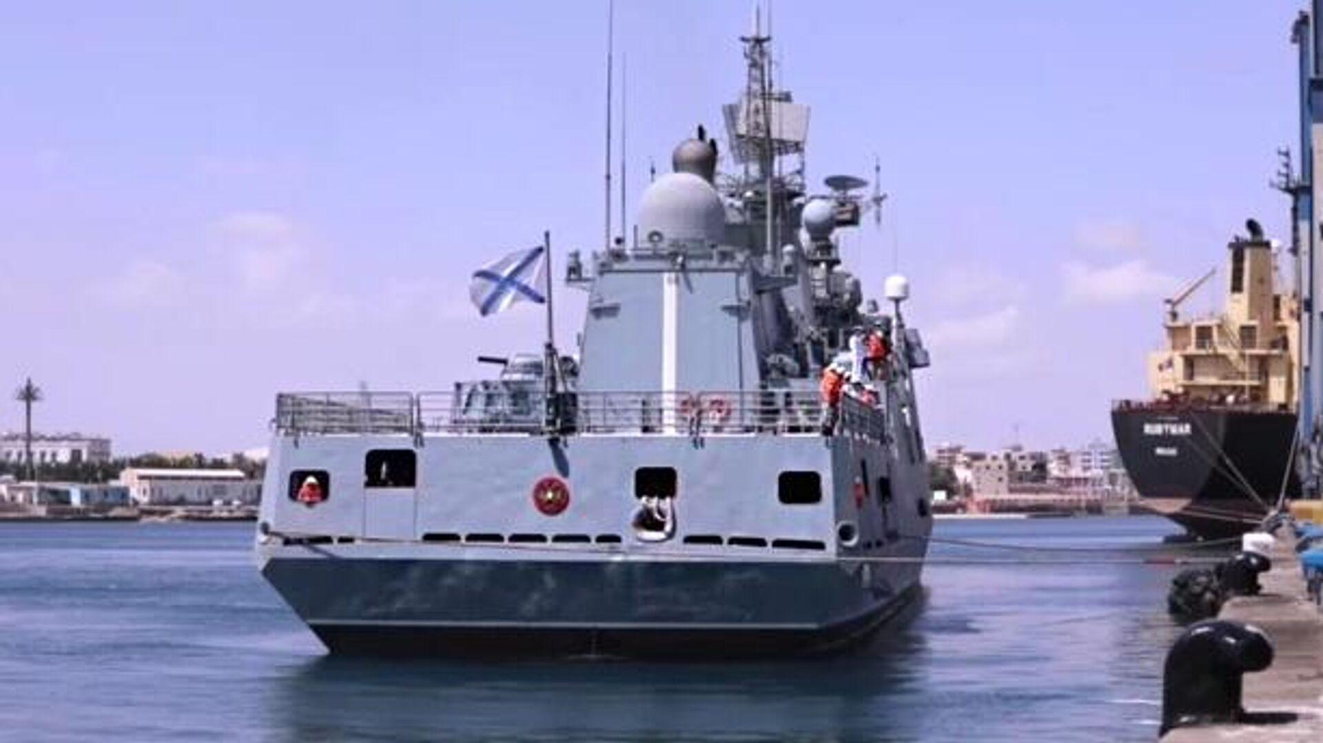 Фрегат ВМФ России Адмирал Григорович впервые вошёл в порт Судана - РИА Новости, 1920, 12.09.2021