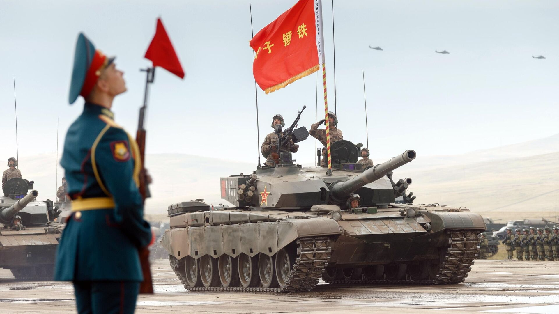 Servicemen on the PLA's Type 99 main battle tank at the Trans-Baikal Tsugol training ground during military maneuvers of the Russian and Chinese armed forces Vostok-2018 - RIA Novosti, 1920, 05/09/2021