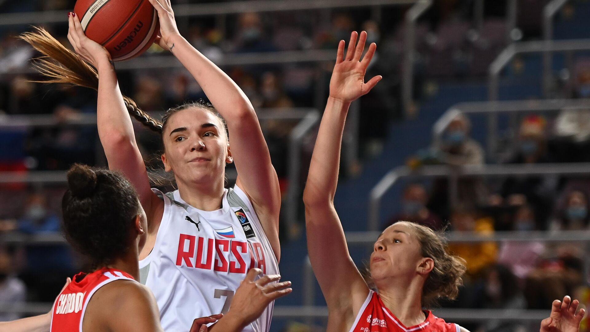 Баскетбол. Женщины. Квалификация Евробаскета-2021. Матч Россия – Швейцария - РИА Новости, 1920, 03.03.2021