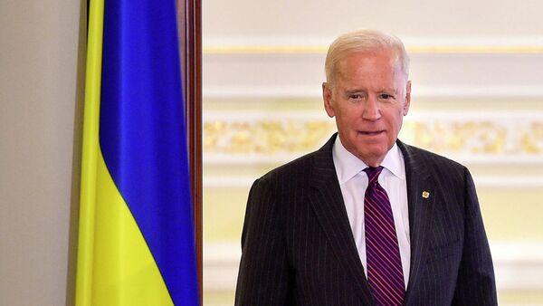 Джо Байден во время пресс-конференции в Киеве
