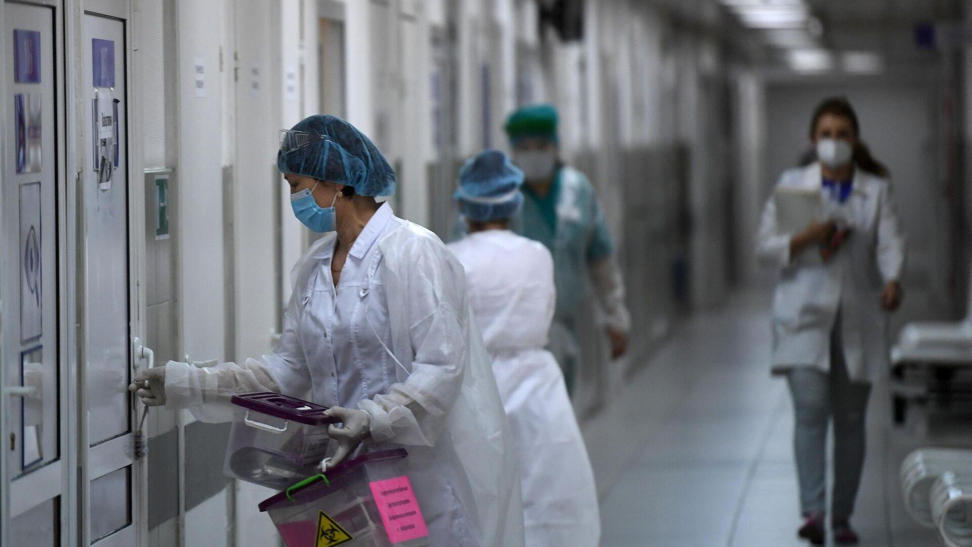 Медицинские работники в городской клинической больнице №15 имени О.М. Филатова - РИА Новости, 1920, 05.03.2021