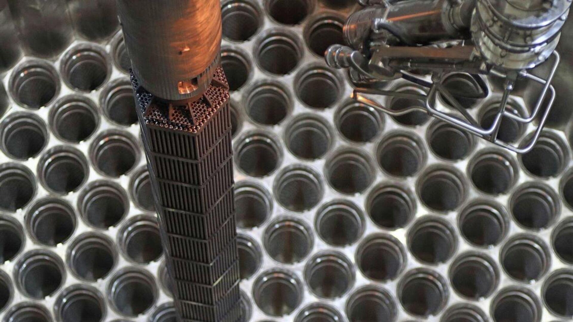 Загрузка имитаторов тепловыделяющих сборок (ИТВС) в реактор второго энергоблока Белорусской АЭС - РИА Новости, 1920, 07.03.2021