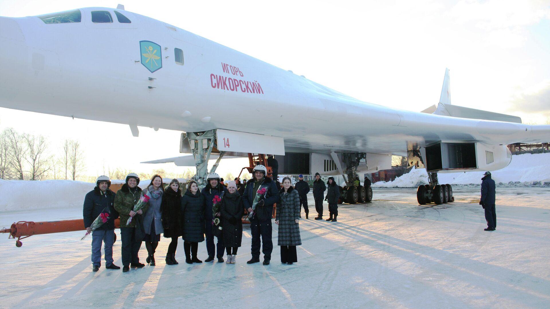 Передача бомбардировщика Ту-160М для предварительных испытаний - РИА Новости, 1920, 10.03.2021