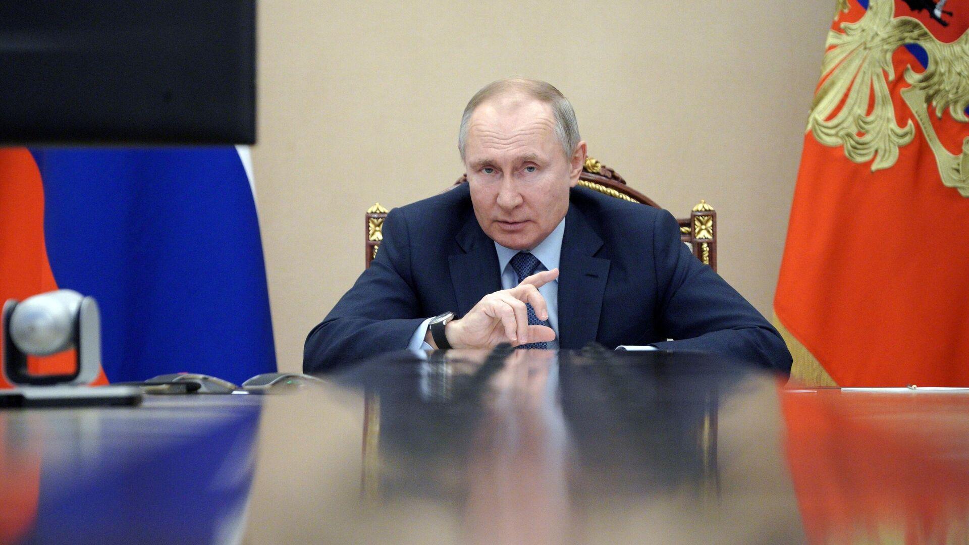 Президент РФ Владимир Путин - РИА Новости, 1920, 11.03.2021