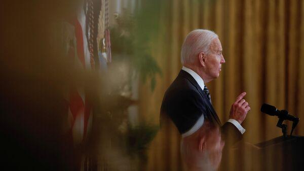 Президент США Джо Байден во время обращения к нации в Белом доме в Вашингтоне