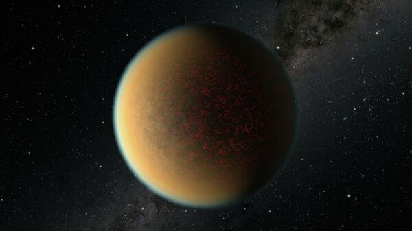 Художественное представление экзопланеты GJ 1132 b