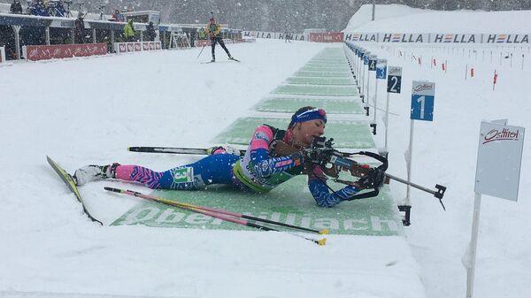 Российская биатлонистка Екатерина Носкова