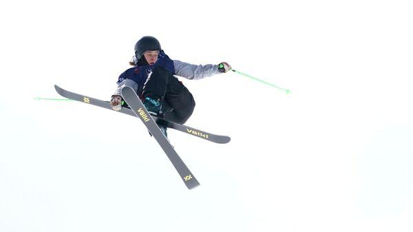Россиянка Анастасия Таталина во время выступления на чемпионате мира по фристайлу в Аспене, США