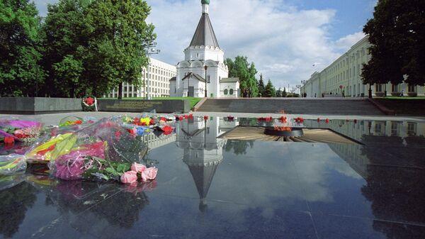 Мемориал Вечная слава павшим в боях за свободу и независимость Родины и Вечный огонь в Нижегородском кремле