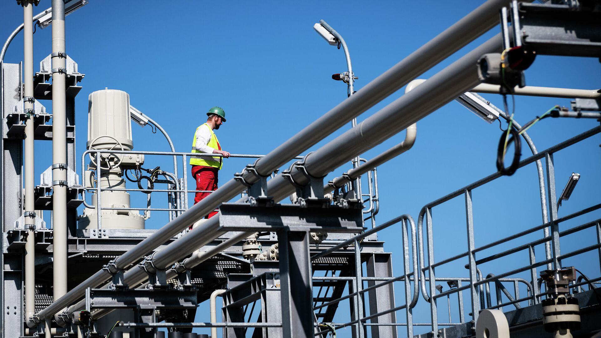 Строительство газопровода Северный поток-2  в городе Любмин в Германии - РИА Новости, 1920, 08.04.2021
