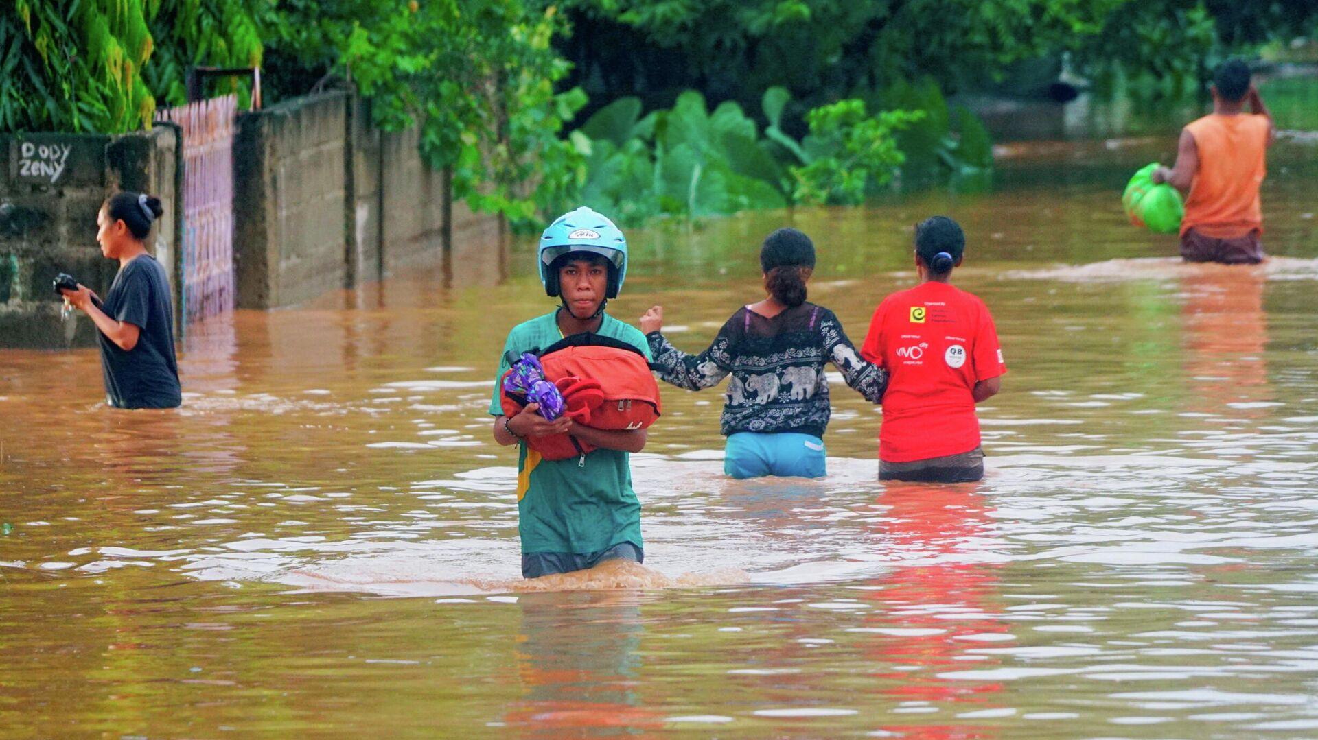 Наводнение в Восточном Тиморе. 4 апреля 2021 - РИА Новости, 1920, 05.04.2021