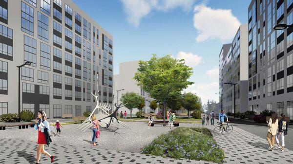 Проект бульвара в ЖК Скандинавия