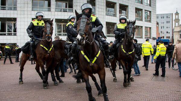 Сотрудники правоохранительных органов в Амстердаме