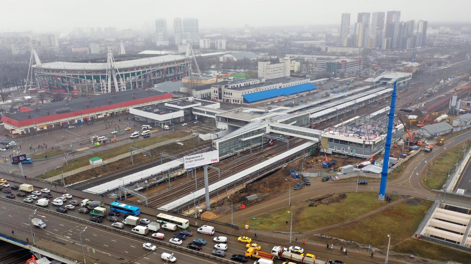 Строительство нового вокзального комплекса Восточный - РИА Новости, 1920, 13.04.2021