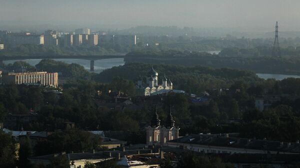 Вид на город Великий Новгород
