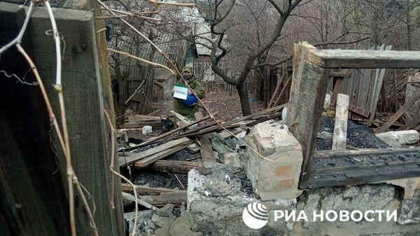 Окраины Горловки и Донецка после обстрела