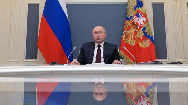 Президент РФ Владимир Путин принимает участие в Саммите лидеров по вопросам климата в формате видеоконференции