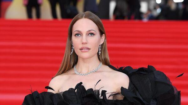 Актриса Мерьем Узерли на красной дорожке перед церемонией открытия 43-го Московского Международного кинофестиваля (ММКФ) в Москве.