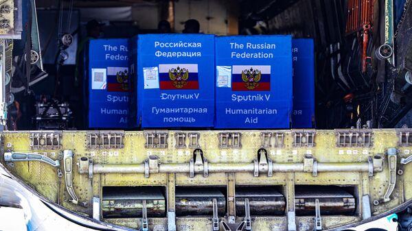Партия вакцины Sputnik V в аэропорту Кишинева