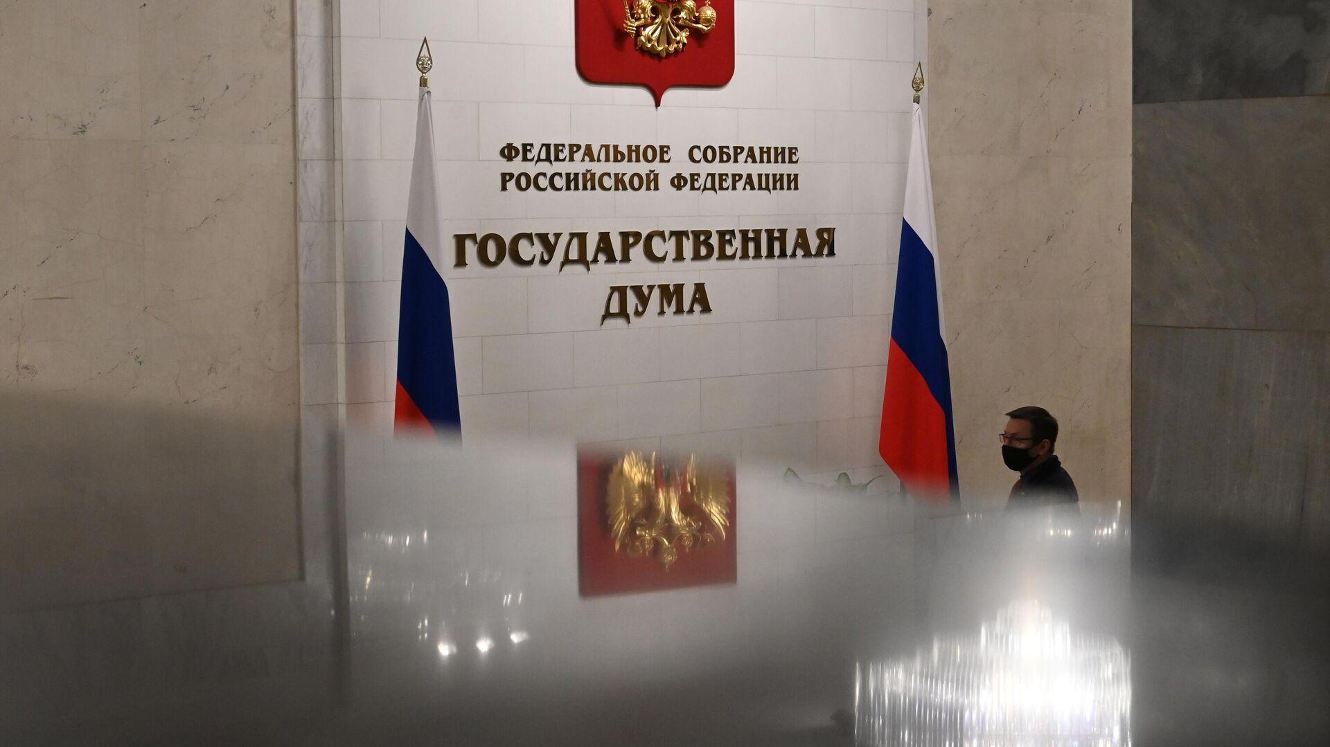 Мужчина в здании Государственной думы РФ - РИА Новости, 1920, 14.05.2021