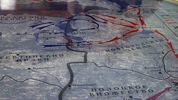 Карта границ Новгородской земли в XIII веке