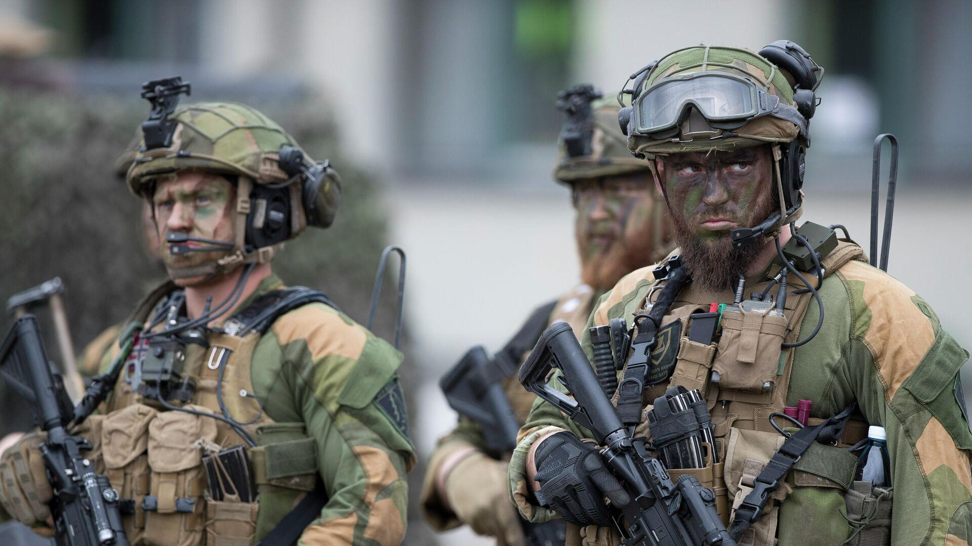 Норвежские солдаты усиленного передового присутствия НАТО - РИА Новости, 1920, 29.04.2021