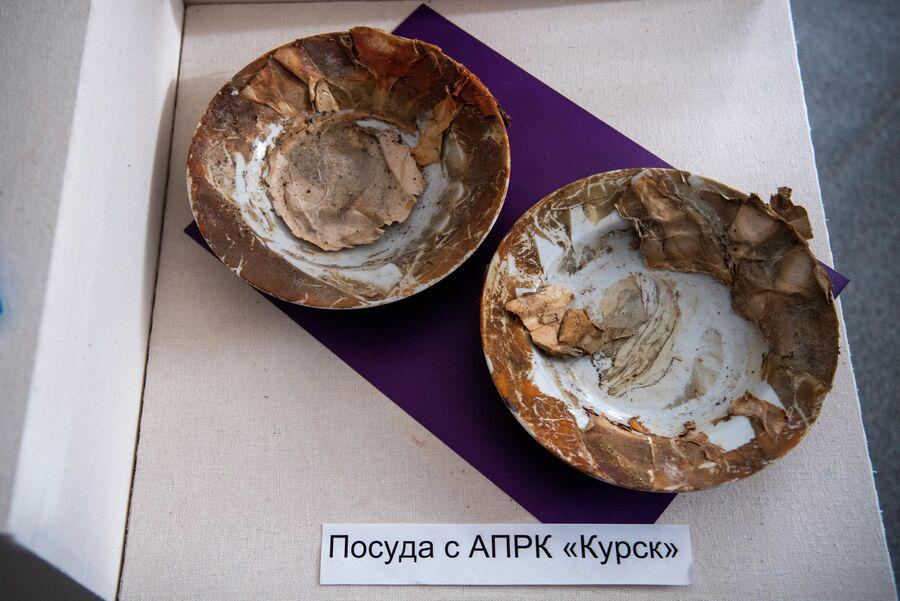 Тарелки, найденные в подлодке ''Курск, хранятся в заводском музее