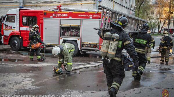 Пожар в гостинице Вечный зов-Кожуховская в Москве